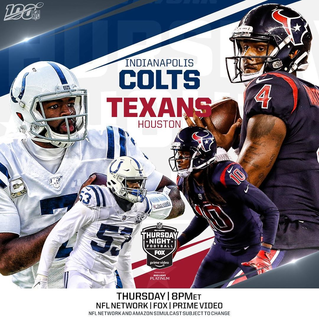 UP NEXT:  vs.  on  - :  Thursday (8pm ET) on  |  |  How to watch: nfl.com/tnf...