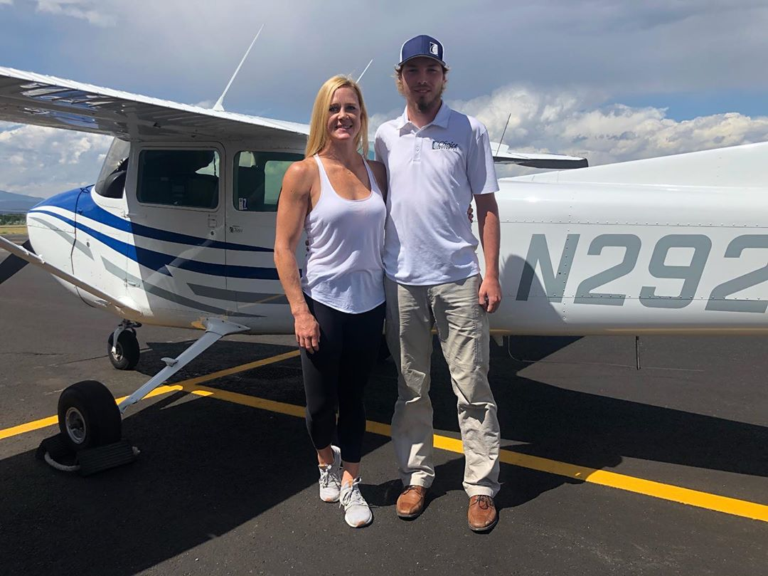 """So I got to """"fly"""" a plane today. Meaning I got to be the pilot with supervision ..."""