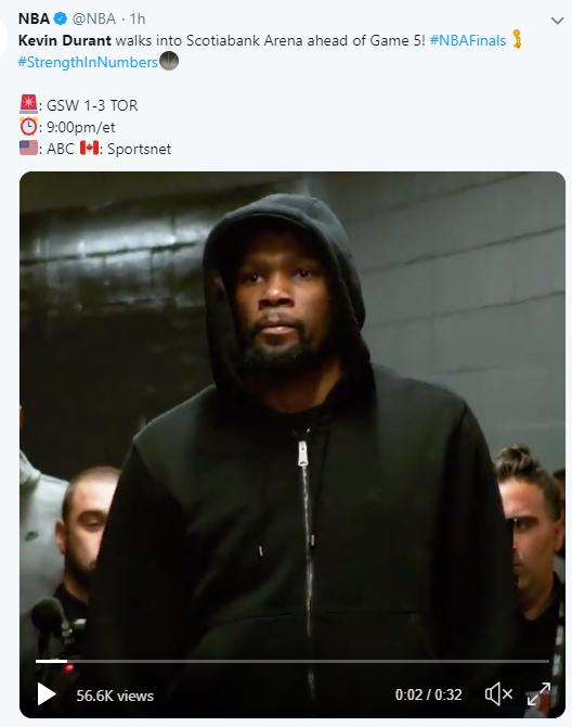 Kevin Durant NBA Finals 2019
