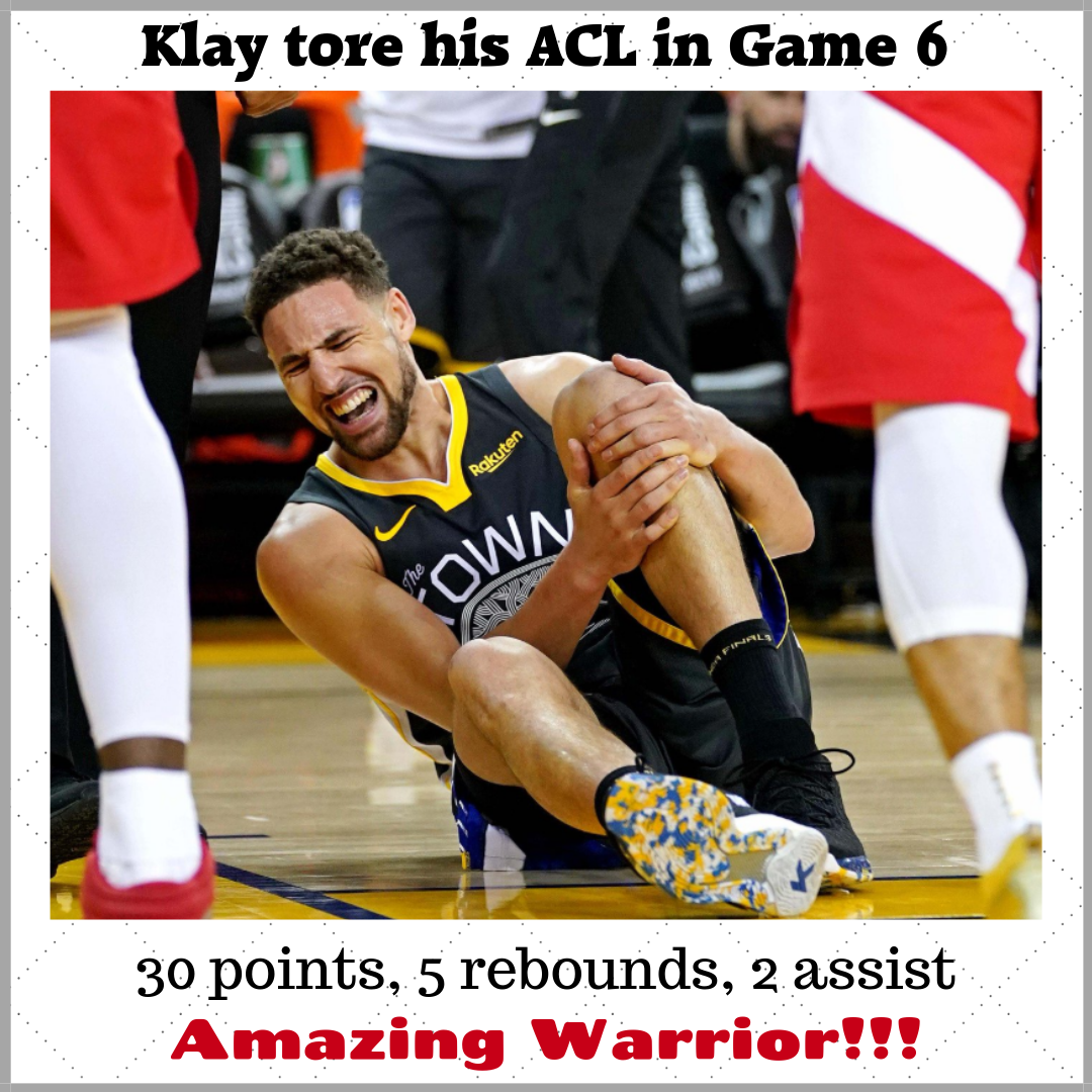 Klay Thompson Game 6 Finals ACL Injury