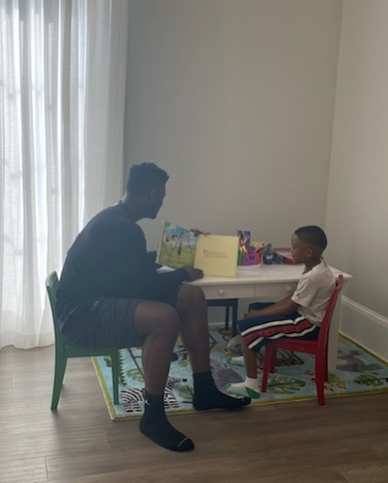 """""""There's nothing like a good book, especially when reading to my little brother...."""