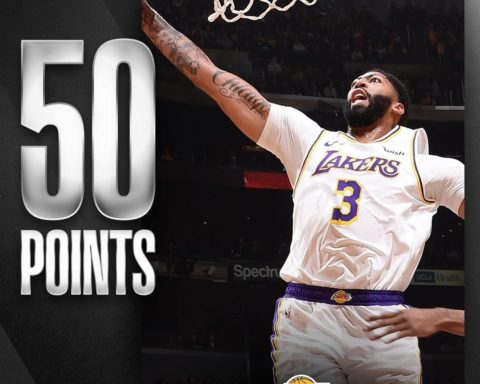 50 points, 7 rebounds, 6 assists & 4 steals for  in the  home W!...