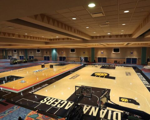 Laying down the practice floors!  NBA Restart begins July 30th with daily & nigh...