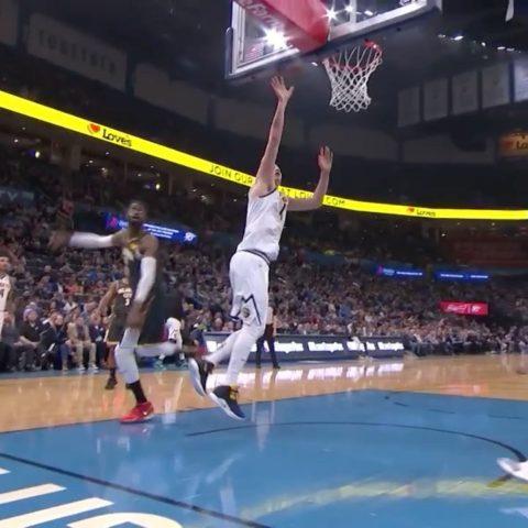 Nikola Jokic in the paint on ESPN! ...
