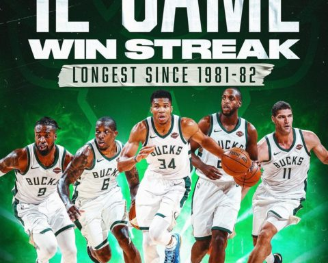The  look to extend their longest win streak since the 1981-82 season to 13 with...