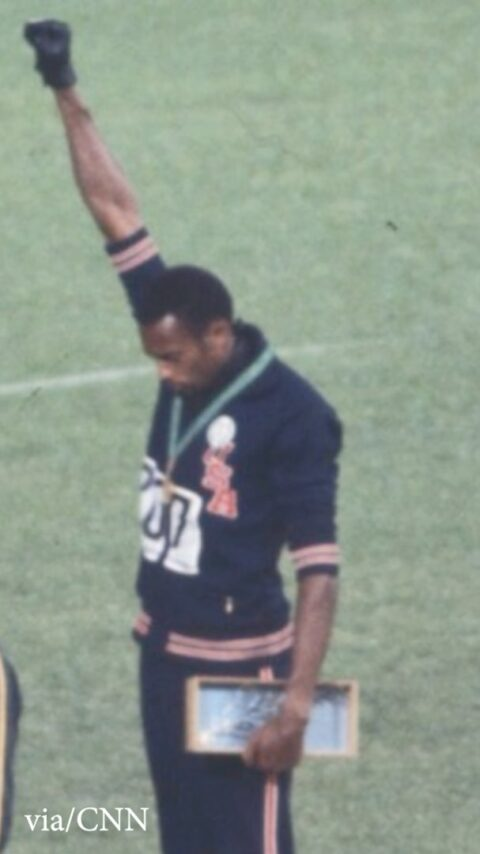 """a cry for freedom.""""  Tommie Smith talks through the meaning of he and teammate ..."""