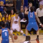 crosses into a tough triple in Game 7 of the 2016 Western Conference Finals on ...
