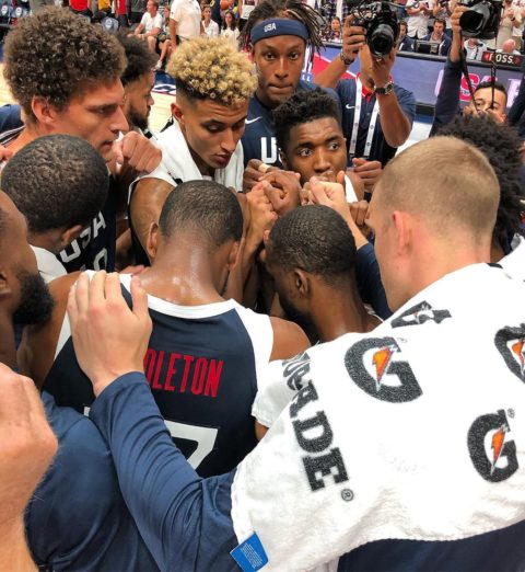 defeats  90-81 in tonight's  tune-up in Anaheim!  ...