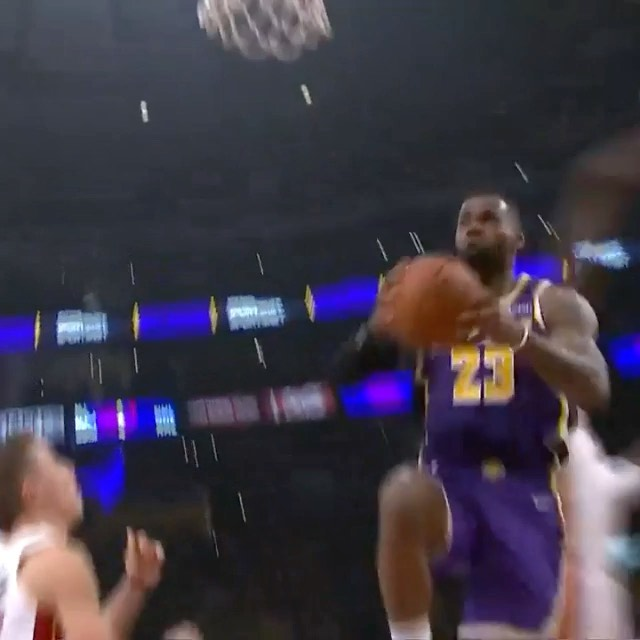 drives into the lane for the  SLAM!...