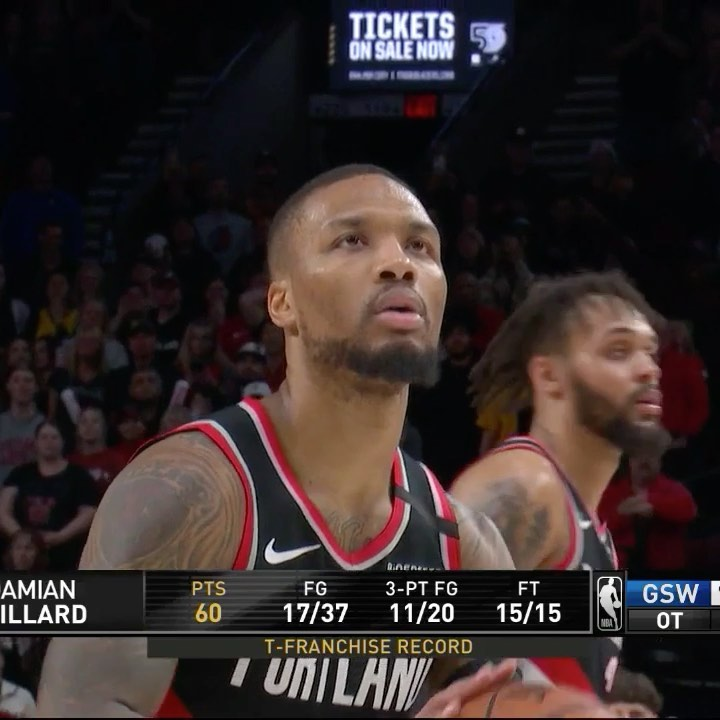 goes off for career-high 61 with franchise-record 11 threes in  OT W! . . . //...