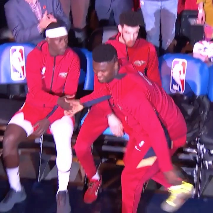 is introduced and tosses his first NBA dime on ESPN!...