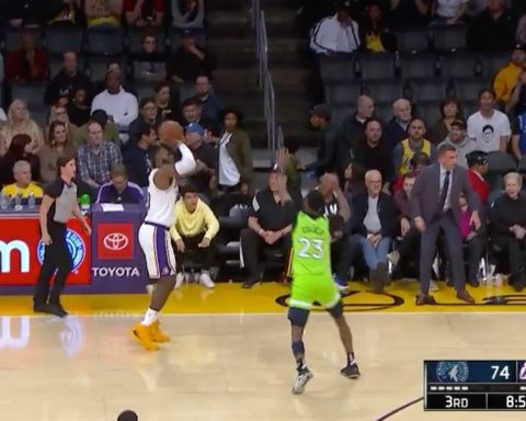 pulls up from DEEP for the  triple!...
