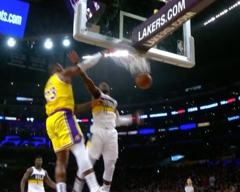 spins off the block for the SLAM!...