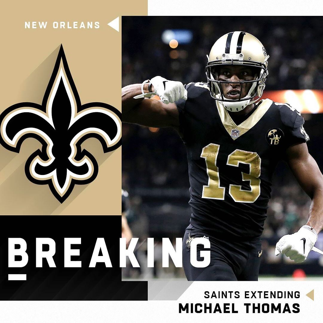 BREAKING: The  and Michael Thomas ( have agreed on a 5-year, $100 million extens...