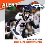 Broncos place franchise tag on S Justin Simmons. (via  - :  /NFL...