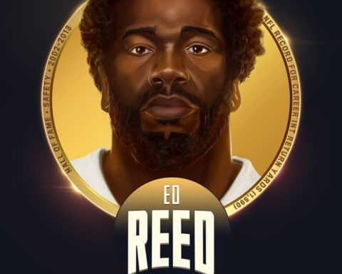 Ed Reed is one of the 6 safeties selected to the  All-Time Team!  5x 1st-Team Al...