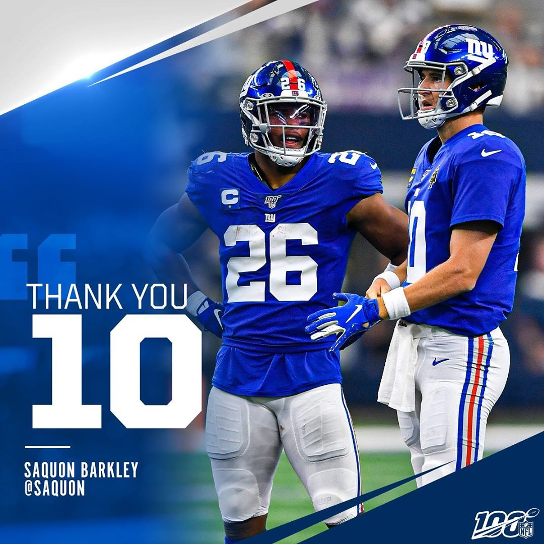 Eli's  teammates showing love for the QB ...