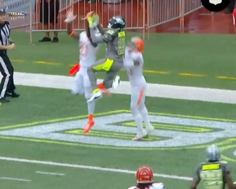FLEA FLICKER  Andrew Luck airs it out deep into double coverage… DeSean Jackson...