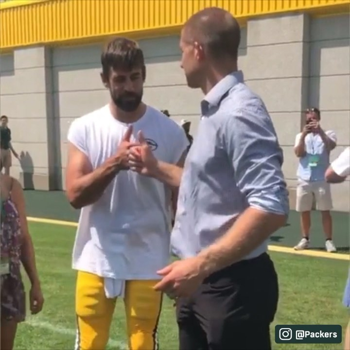 Jordy retired a Packer today and they gave us one more fist bump.  ...