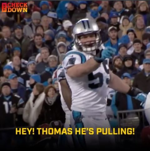 Luke Kuechly always knew where the ball was going.  (via ...