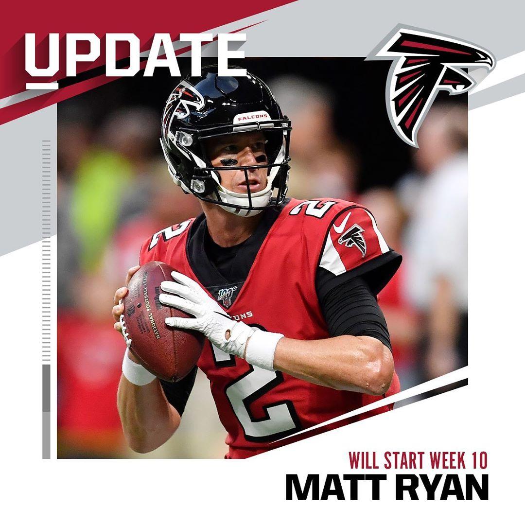 "QB Matt Ryan is ""ready to play"" vs. the Saints on Sunday, per HC Dan Quinn. : M..."