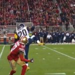Ramsey gets his first INT with the  - :  only on  How to watch: nfl.com/Saturday...