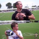 Remember the kid  held at the podium after winning Super Bowl XLIV? He's droppin...