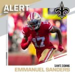 Saints signing WR Emmanuel Sanders to two-year, $16M deal. (via  - : ...