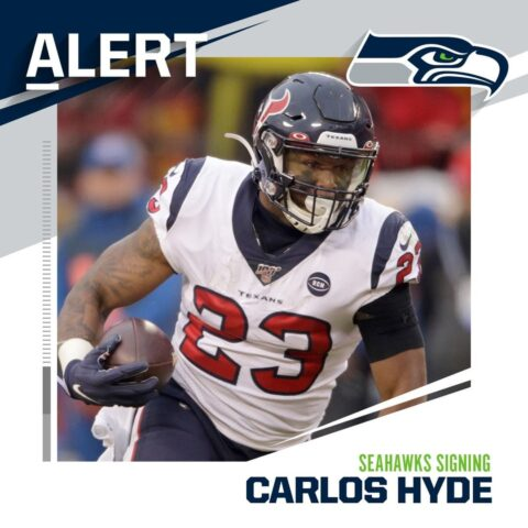 Seahawks signing RB Carlos Hyde to one-year deal. (via  and  - : Charlie Riedel/...