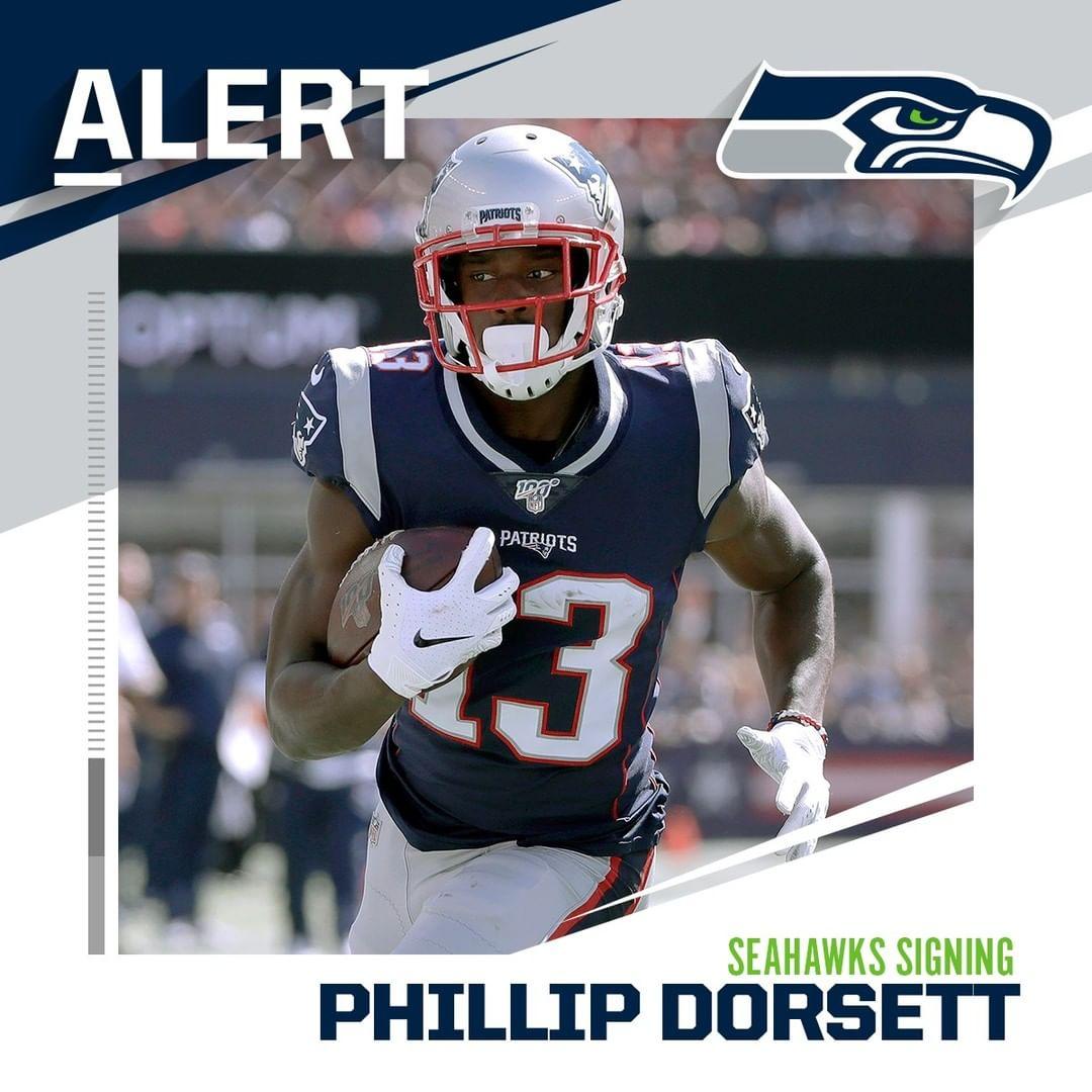 Seahawks signing WR Phillip Dorsett to one-year deal. (via  - : Elise Amendola /...