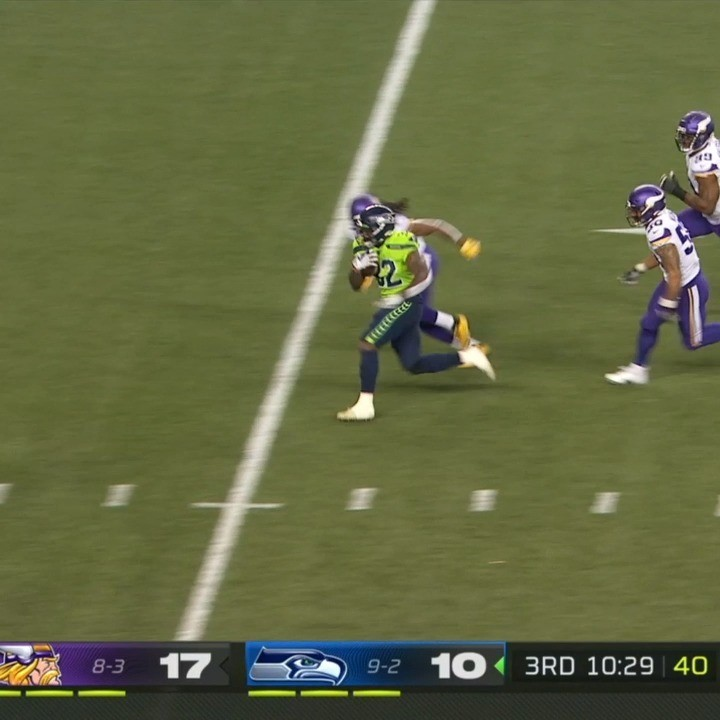 Seattle rushes to tie it up! - :  on ESPN : NFL app // Yahoo Sports app...