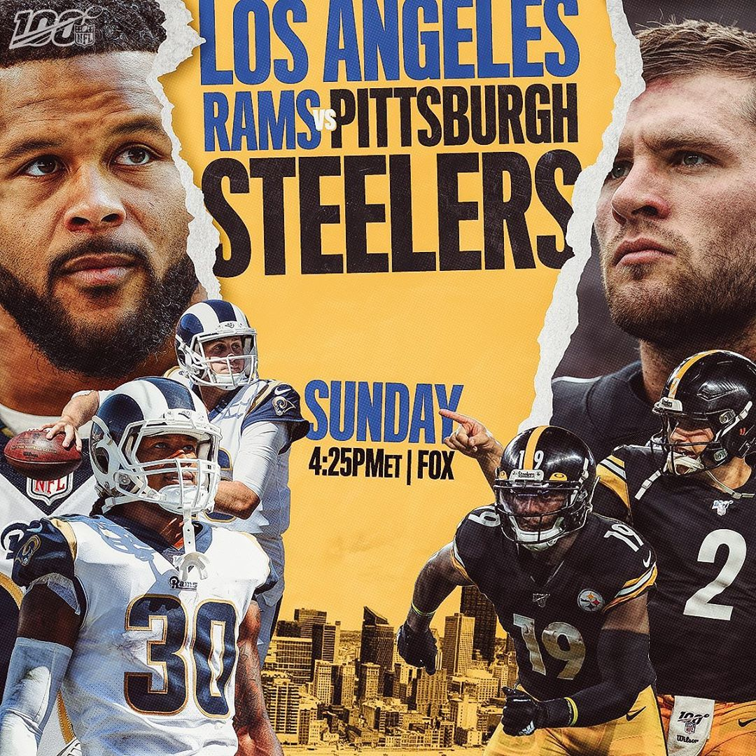 The showdown in the Steel City.  :  - Sunday at 4:25pm ET on FOX : NFL App // Ya...