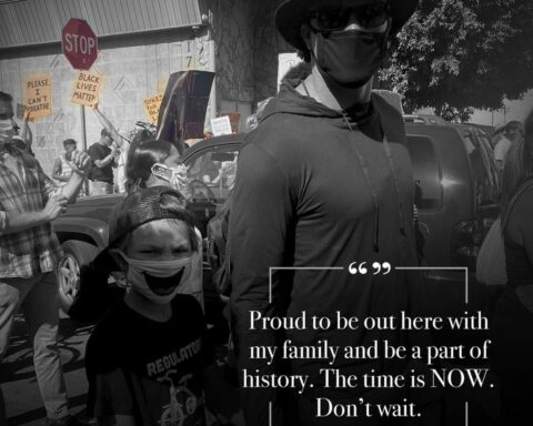 Tony Gonzalez and his family are using their voices for change.  (via ...