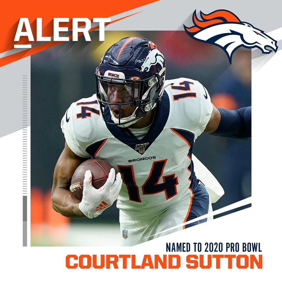 WR Courtland Sutton named to 2020  replacing Texans WR DeAndre Hopkins. : David...