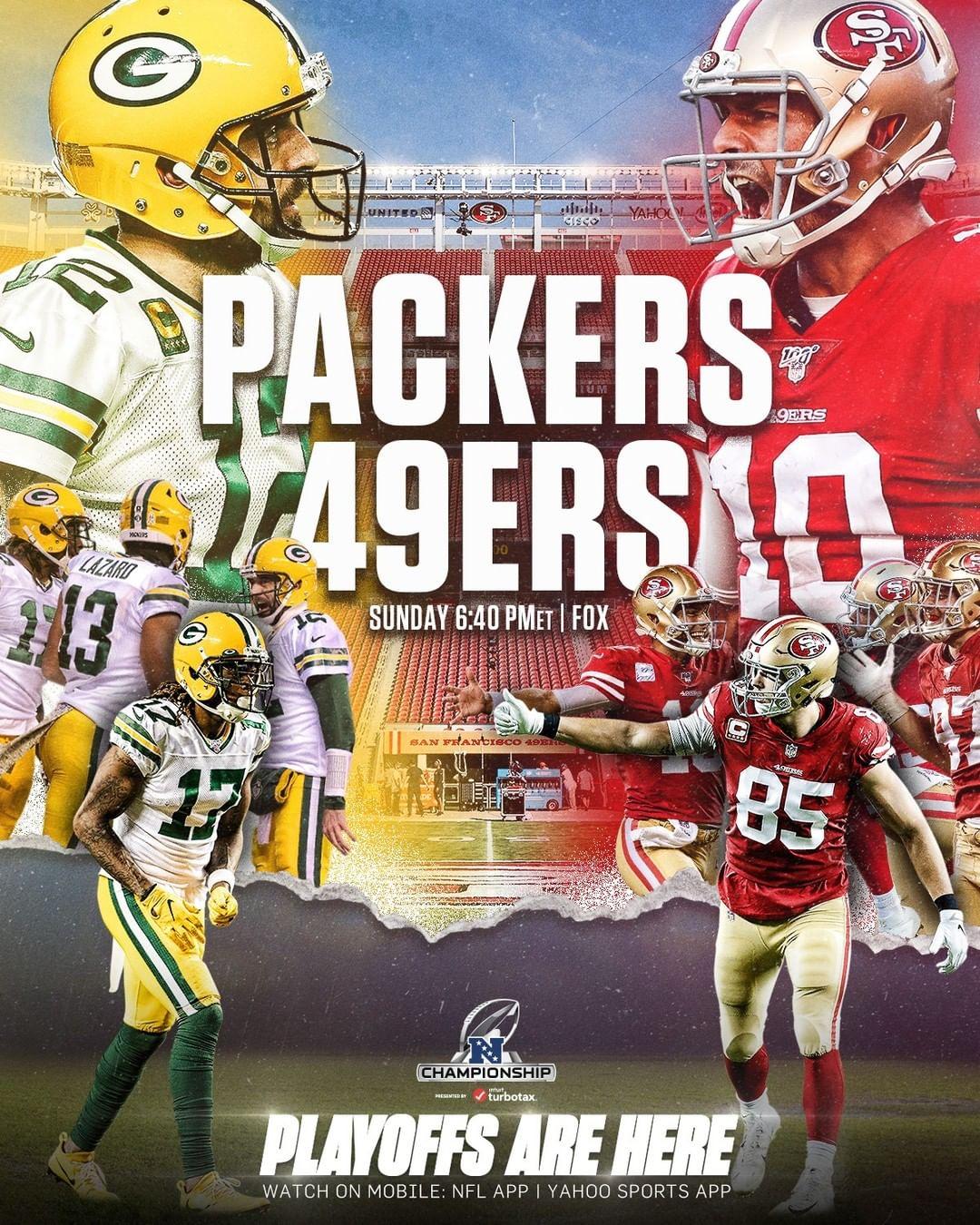 Winner gets a trip to Miami.  - :  -- SUNDAY 6:40pm ET on FOX : NFL app // Yah...