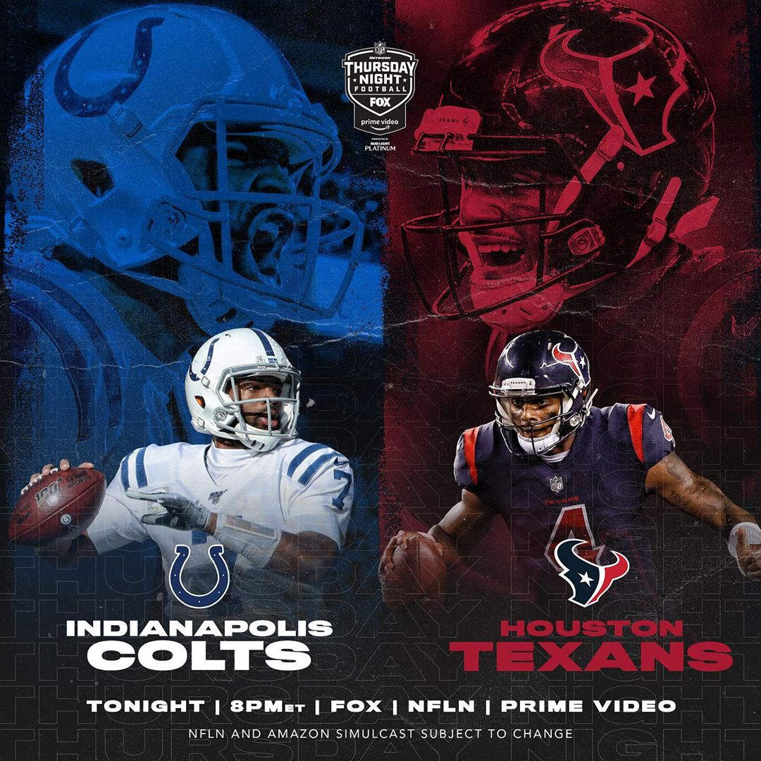 Winner takes the lead in the AFC South. Who ya got? - :  - TONIGHT 8pm ET on    ...