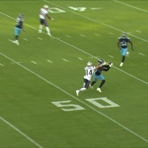 is a PLAY MAKER.   He grabs an early INT off his old team. ...
