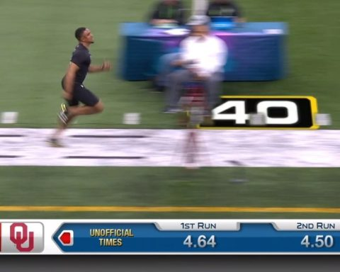 sprints to a 4.59 time in the 40! - : 2020  on ...