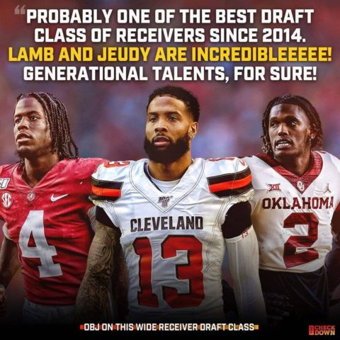 thinks this class of WRs has a chance to be legendary  (via ...