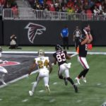 throws a DART to Jarden Graham!  Falcons on the board! - :NOvsATL on NBC : NFL ...