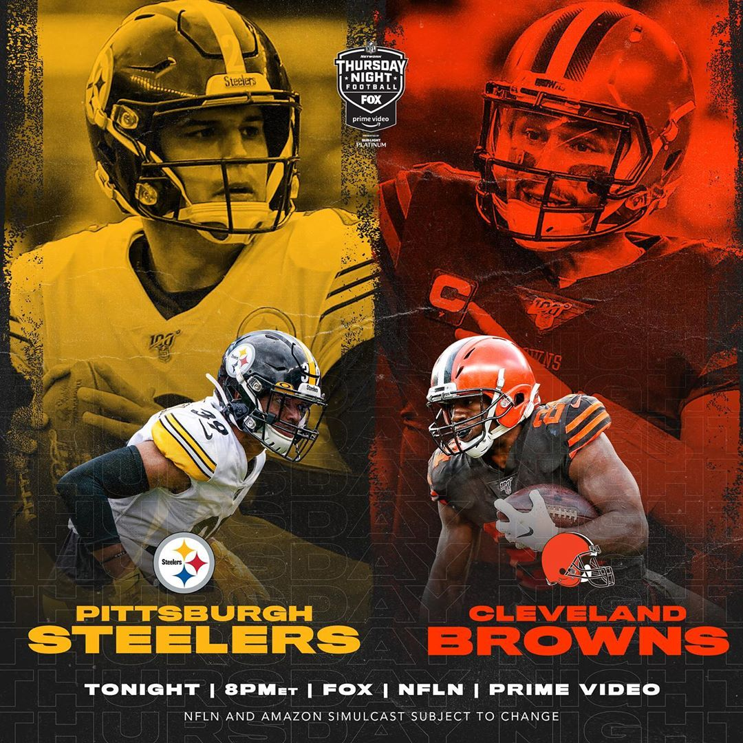 vs.   Which AFC North team gets that W? :  — TONIGHT 8pm ET on        How to wa...