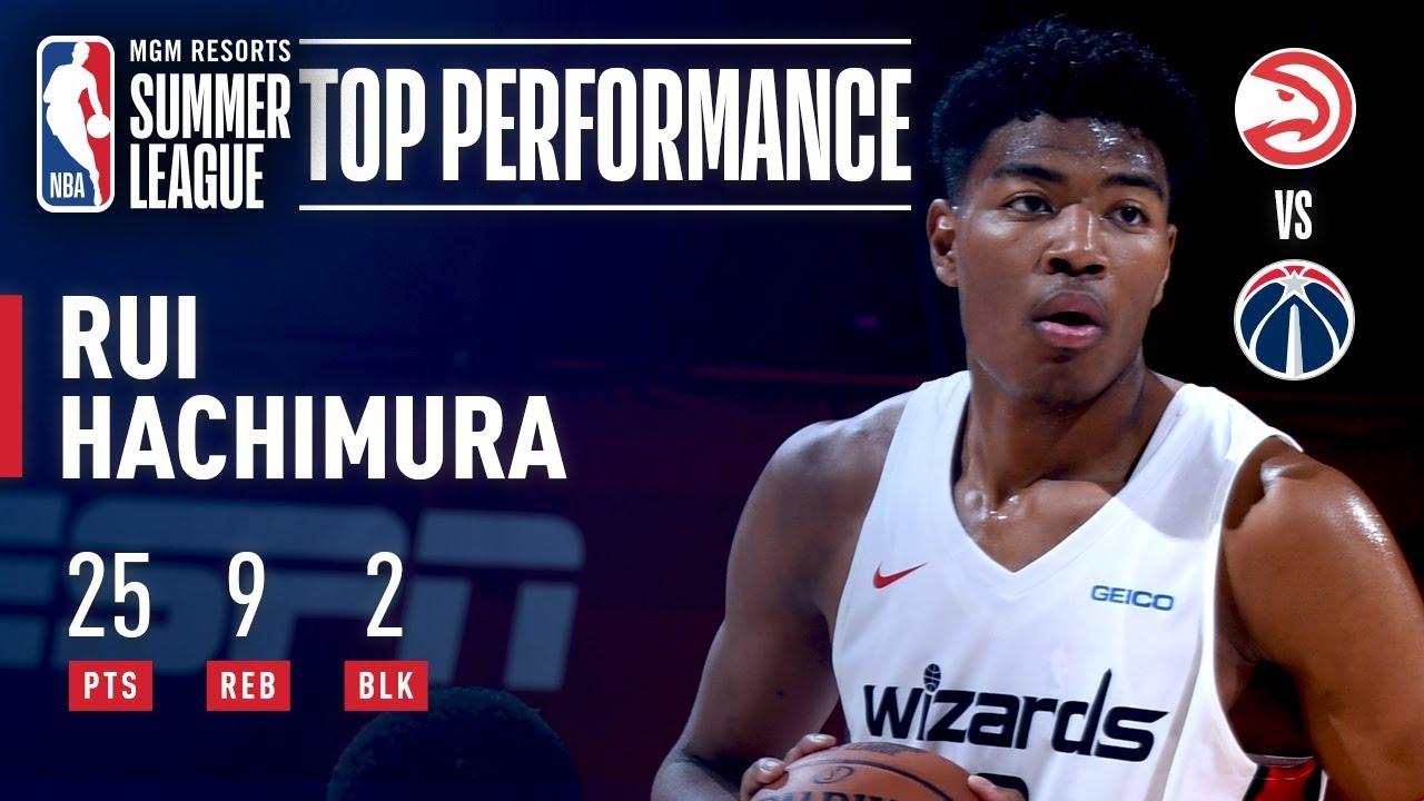 Rui Hachimura Turns In Big Performance VS Atlanta | July 11, 2019