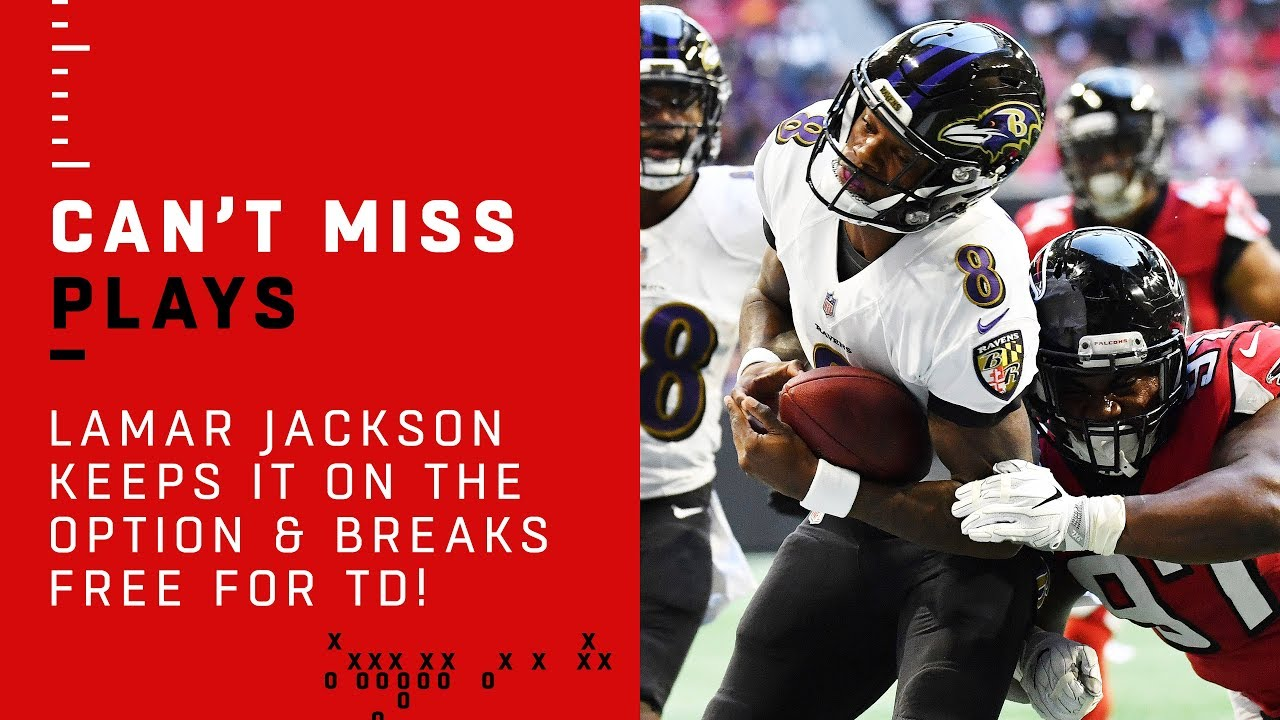 Lamar Jackson Keeps it on the Option & Breaks Free for TD!