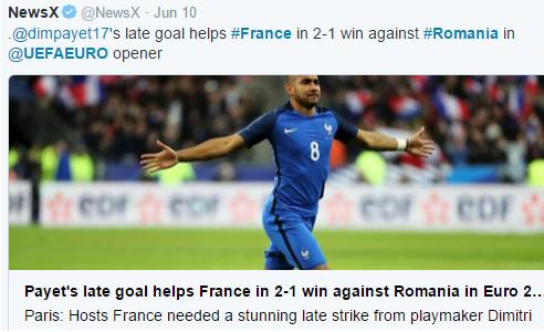 UEFA Euro 2016 - France vs Romania