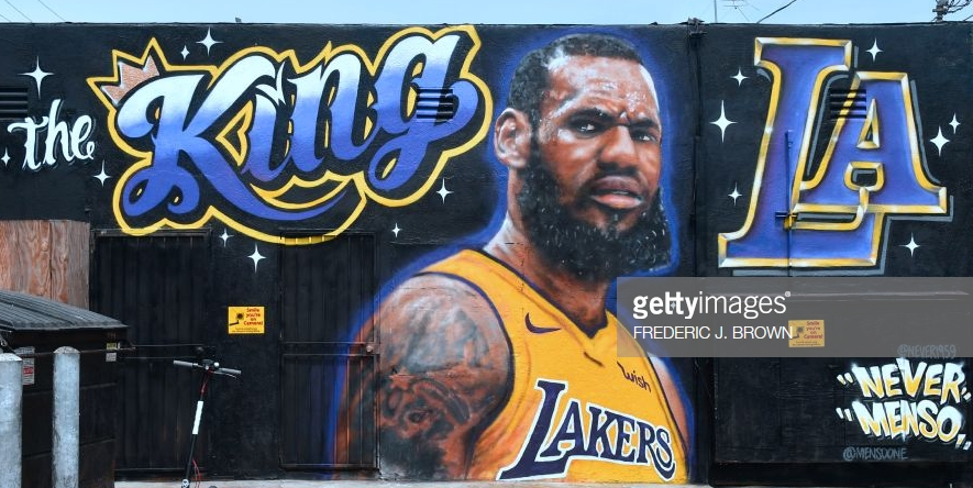 Lebron James Billboard The King LA