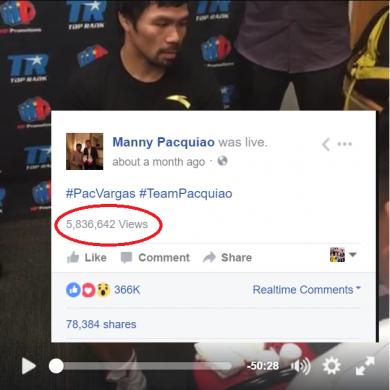 Manny Pacuiao FB Live Wrap Hand