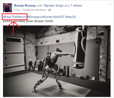 Ronda Rousey #FearTheReturn