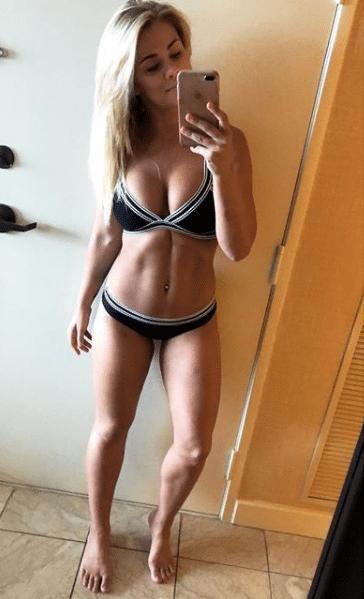 Paige Vanzant Beautiful Selfie in Black and White Bikini