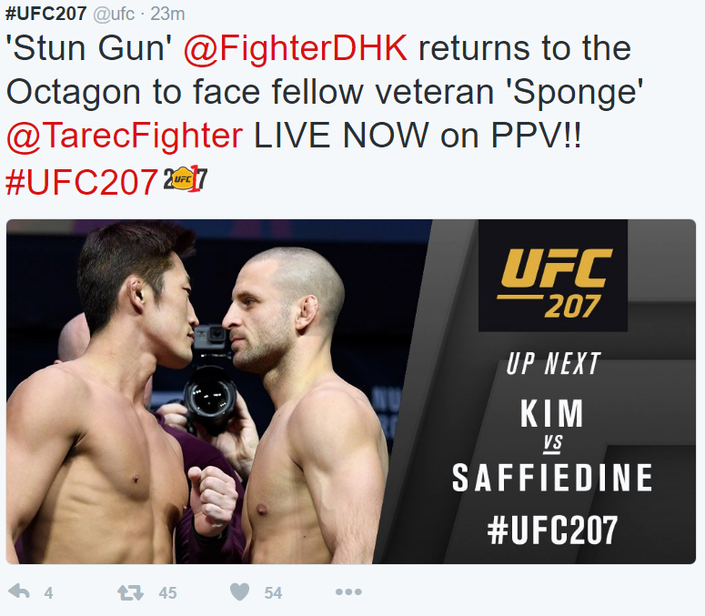 UFC 207 Kim vs Saffiedine